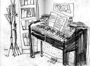 Wohnung Klavier