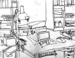 Wohnung Schreibtisch