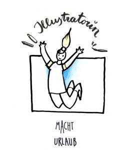 illustratorin macht urlaub